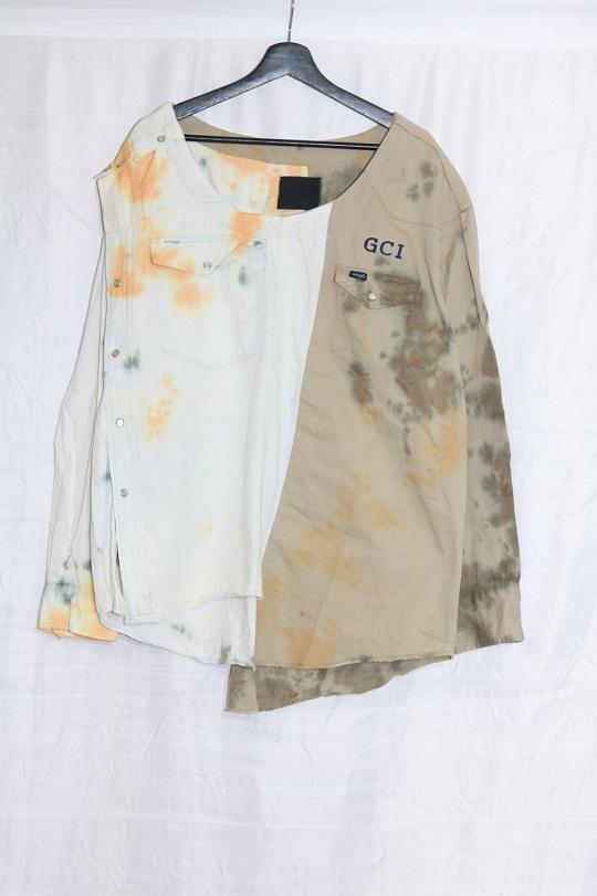 No.R-W-121-Tie dye(Orange×Olive)-21000
