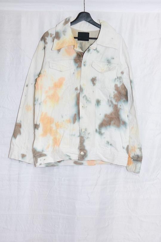 No.R-W-126-Tie dye(Orange×Olive)-40000