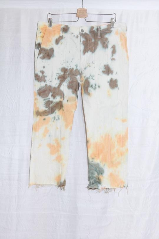 No.R-W-127-Tie dye(Orange×Olive)-40000