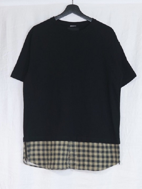 No.R-W-142-Black×FLANNEL(Assort)-8500